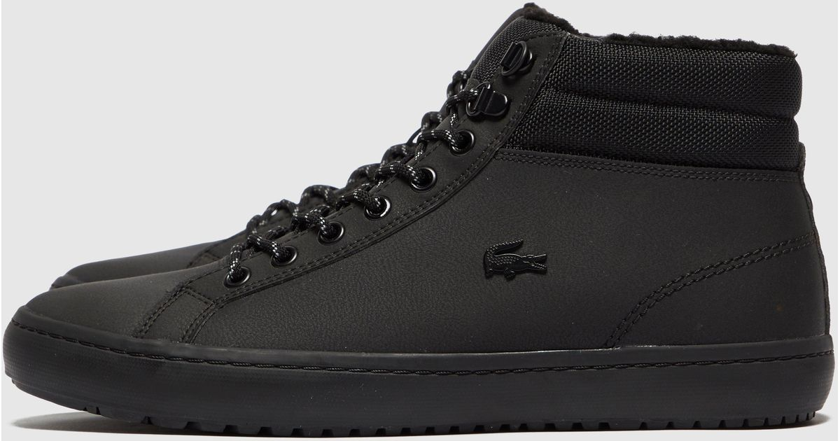 Lacoste Leather Straightset Thermo Boot In Black For Men Lyst