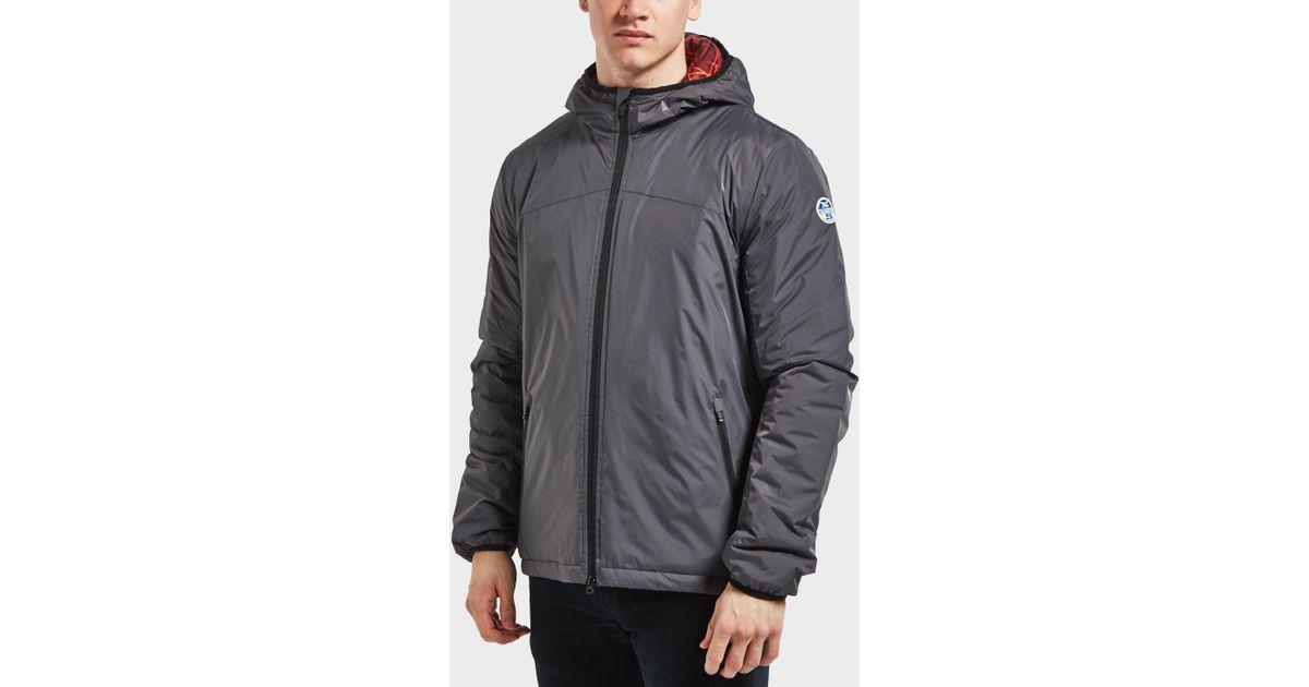 lyst north sails nylon windbreaker jacket in gray for men. Black Bedroom Furniture Sets. Home Design Ideas