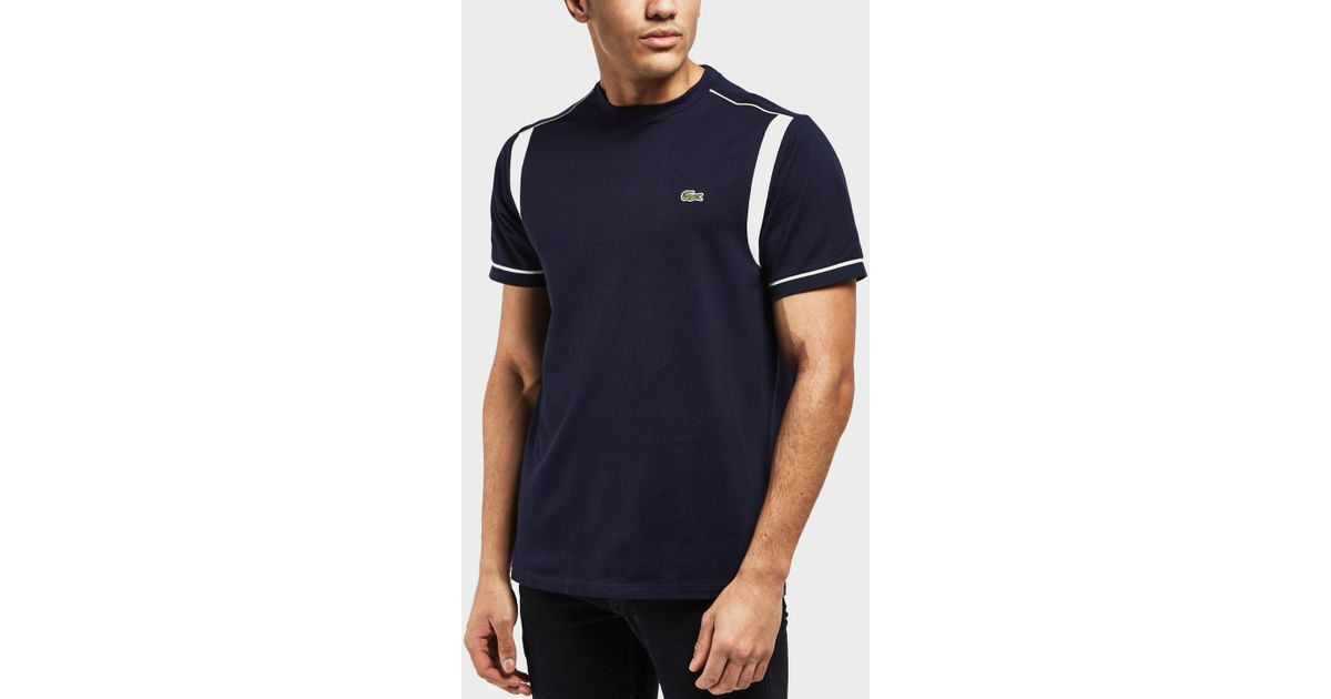 fd85ced6 Lacoste Blue Waffle Short Sleeve T-shirt - Online Exclusive for men