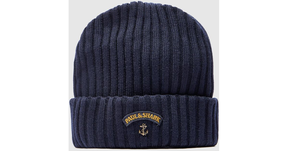 8d6b617a9e9cf0 Paul & Shark Ribbed Knit Hat in Blue for Men - Lyst