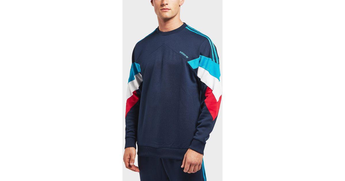 classic style new concept reliable quality Adidas Originals Blue Palmeston Sweatshirt for men