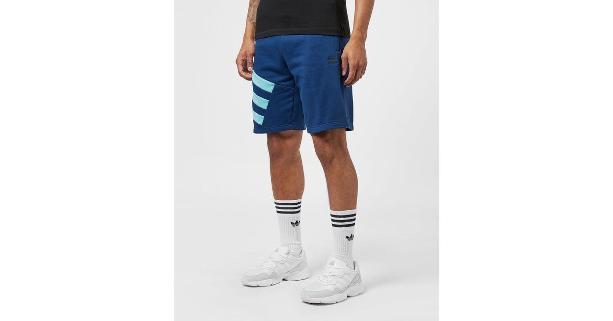 adidas originals trefoil fleece denim shorts