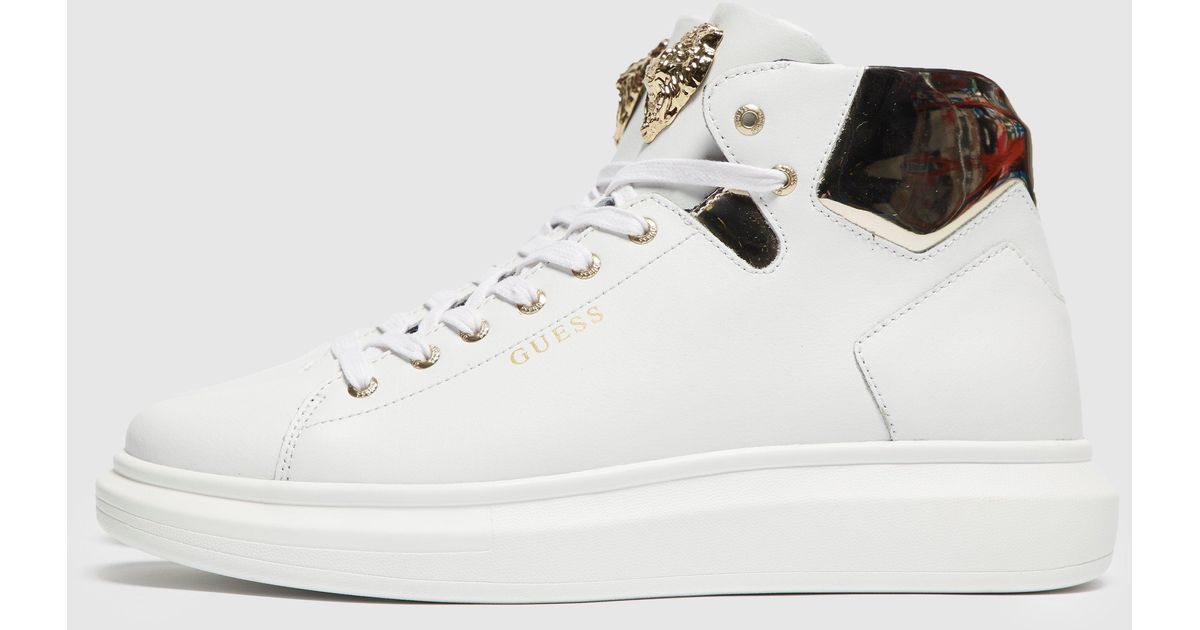 Guess Leather Opera Trainers in White