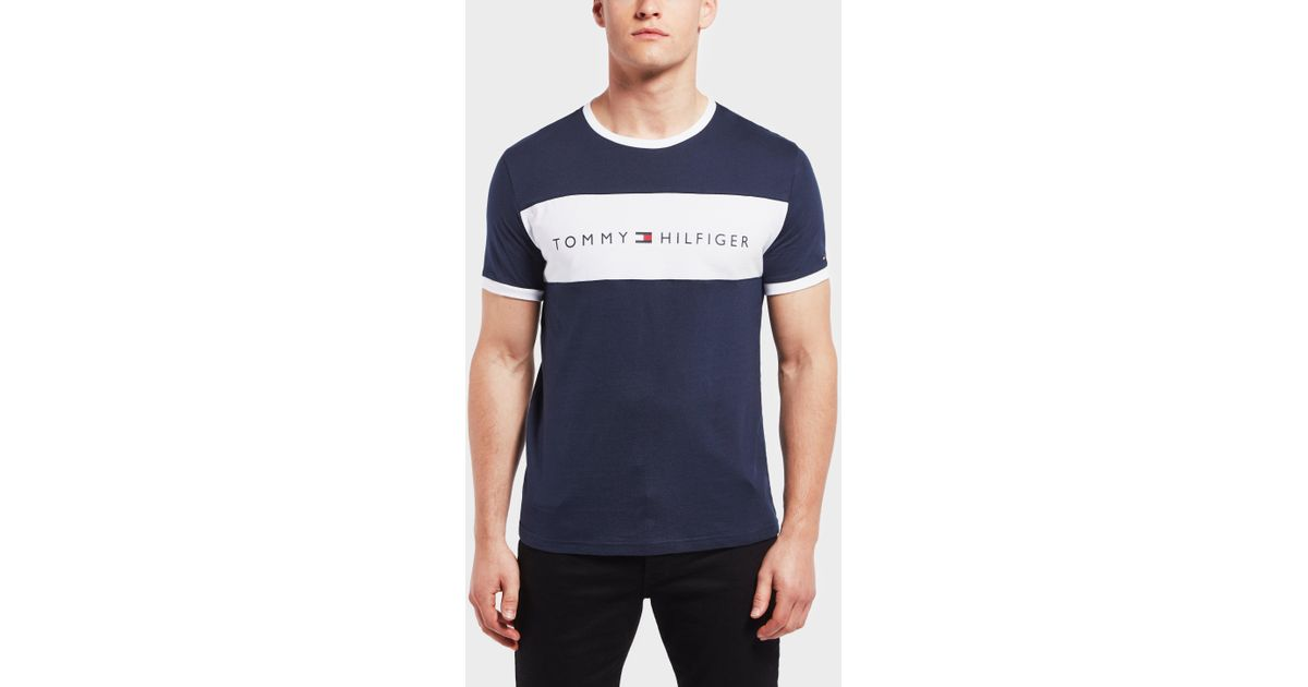 3a8f75235 Tommy Hilfiger Colour Block Short Sleeve T-shirt in Blue for Men - Lyst