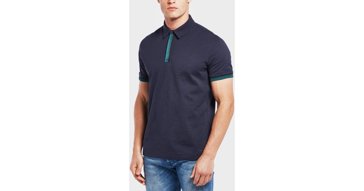 7fc43f2df Lyst - BOSS Paxto Short Sleeve Polo Shirt in Blue for Men