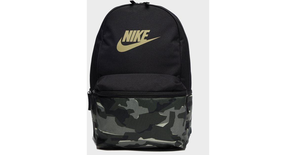 meet 993c9 4d096 Nike Heritage Camo Backpack in Black for Men - Lyst