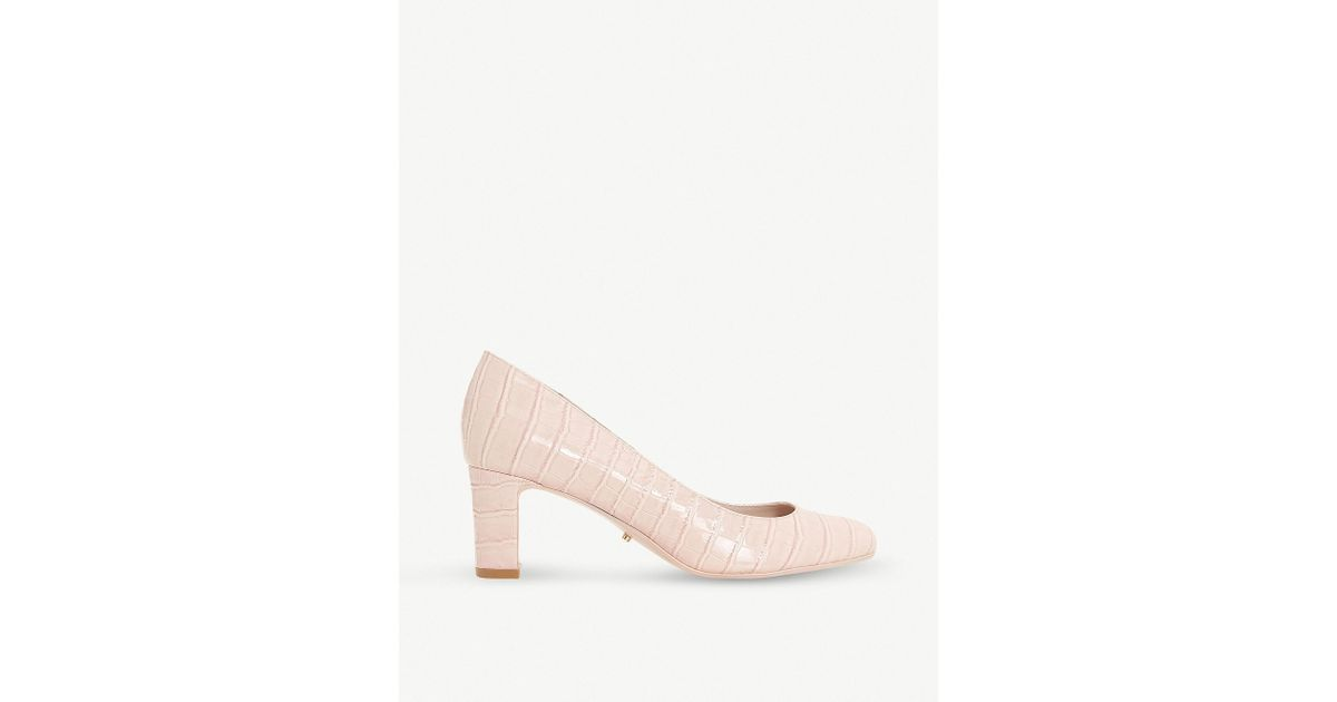 a67ce853852 Dune Adena Croc-effect Court Shoes in Pink - Lyst