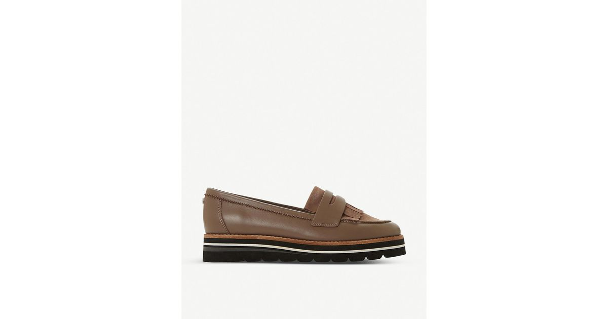 Dune Gracella Flatform Leather Loafers