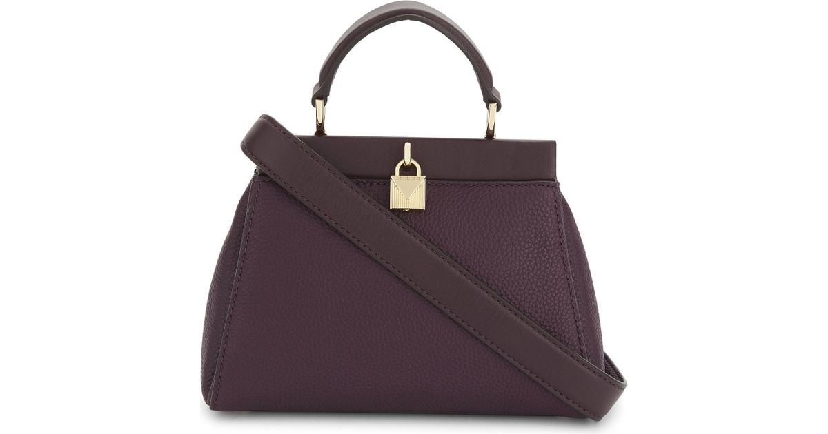 4f57469b1a92 MICHAEL Michael Kors Gramercy Frame Leather Satchel Bag in Purple - Lyst