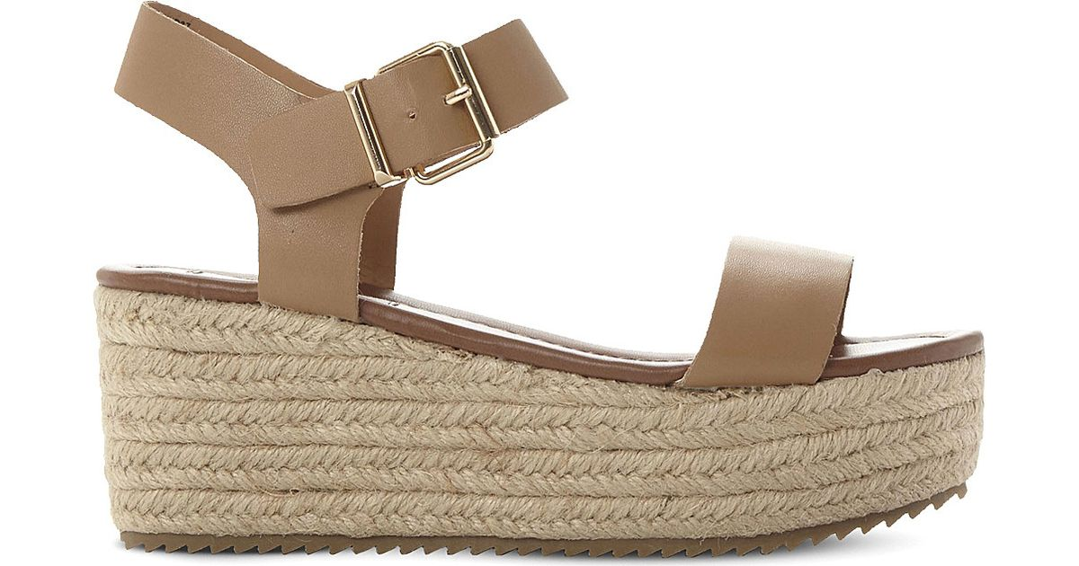 9c05e53e3124 Lyst - Steve Madden Surfa Espadrilles Platform Sandals in Brown