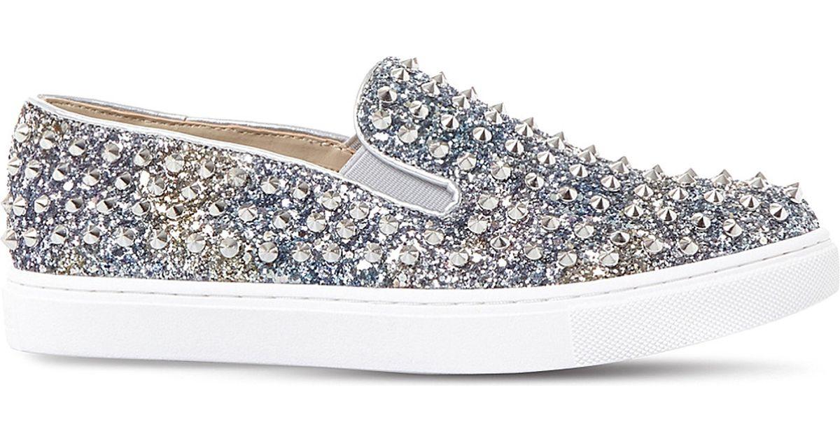 fdf54c55746 Steve Madden Multicolor Emmmaa-s Studded Glitter Skate Shoes