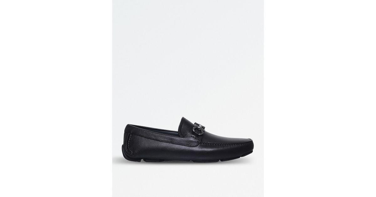 239ea5d1a32 Lyst - Ferragamo Parigi Leather Driver Shoes in Brown for Men