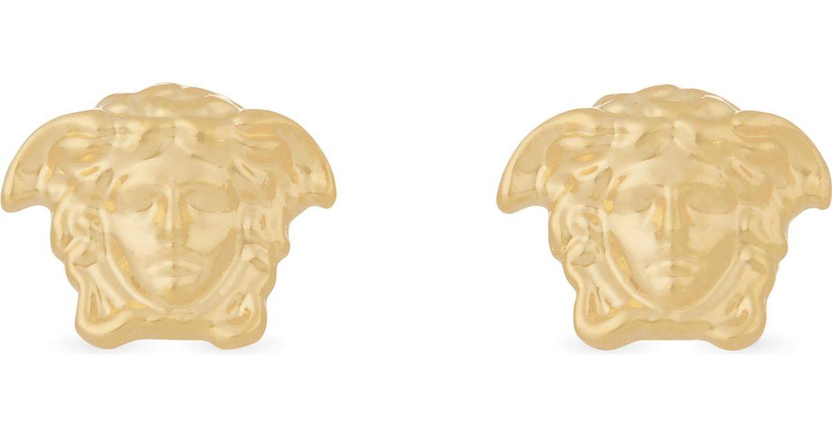0cc0f42b1 Lyst - Versace Mens Medusa Stud Gold-tone Earrings in Metallic