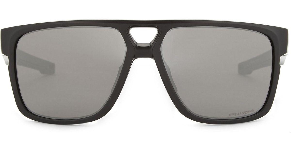 f71c9e16e3b Oakley Crossrange Patch Rectangle-frame Sunglasses in Black - Lyst