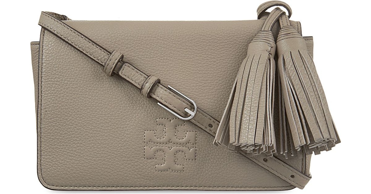 b249f9e9a4e3c Lyst - Tory Burch Thea Mini Leather Cross-body Bag