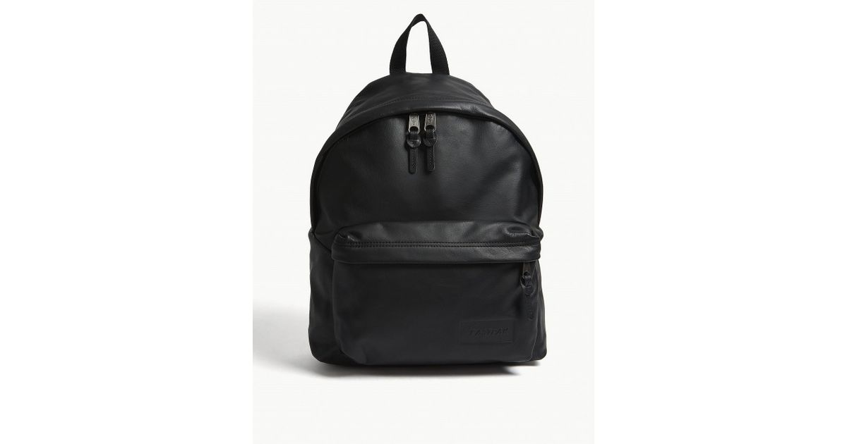 ffb255f4cc9f Lyst - Eastpak Black Ink Woven Padded Pak r Leather Backpack in Black for  Men