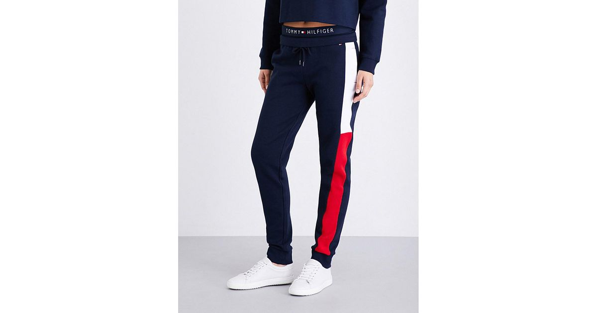purchase cheap 100% authentic buying cheap Tommy Hilfiger Blue Athletica Jersey Jogging Bottoms for men