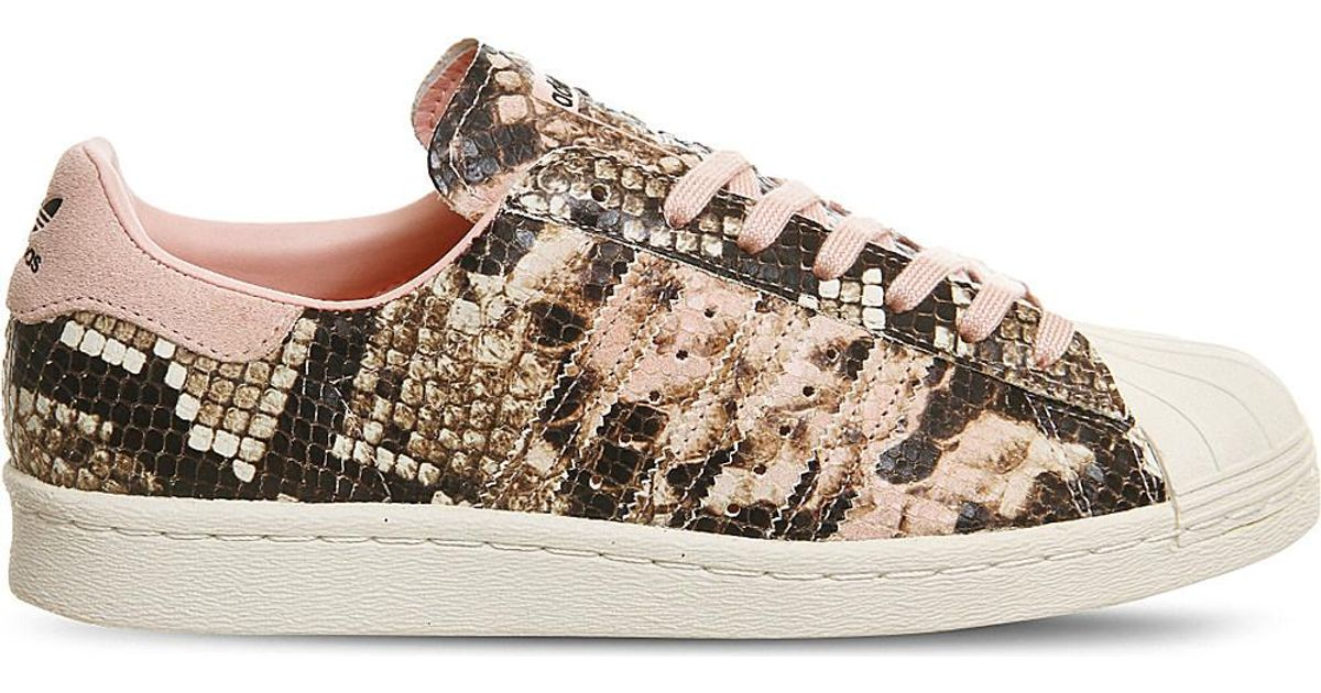 Adidas Superstar 80s snake effect trainers | Sneaker