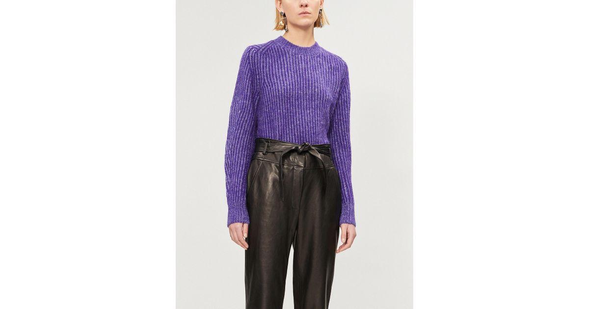 973f0dcc72 Lyst - Rag   Bone Jonie Ribbed Knitted Jumper in Purple
