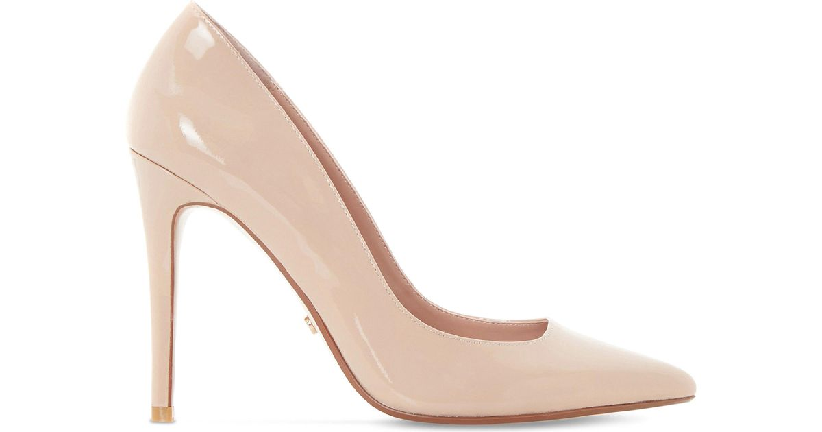 a6ec85bebcc2 Dune Aiyana Stiletto Patent Court Shoes in Natural - Lyst