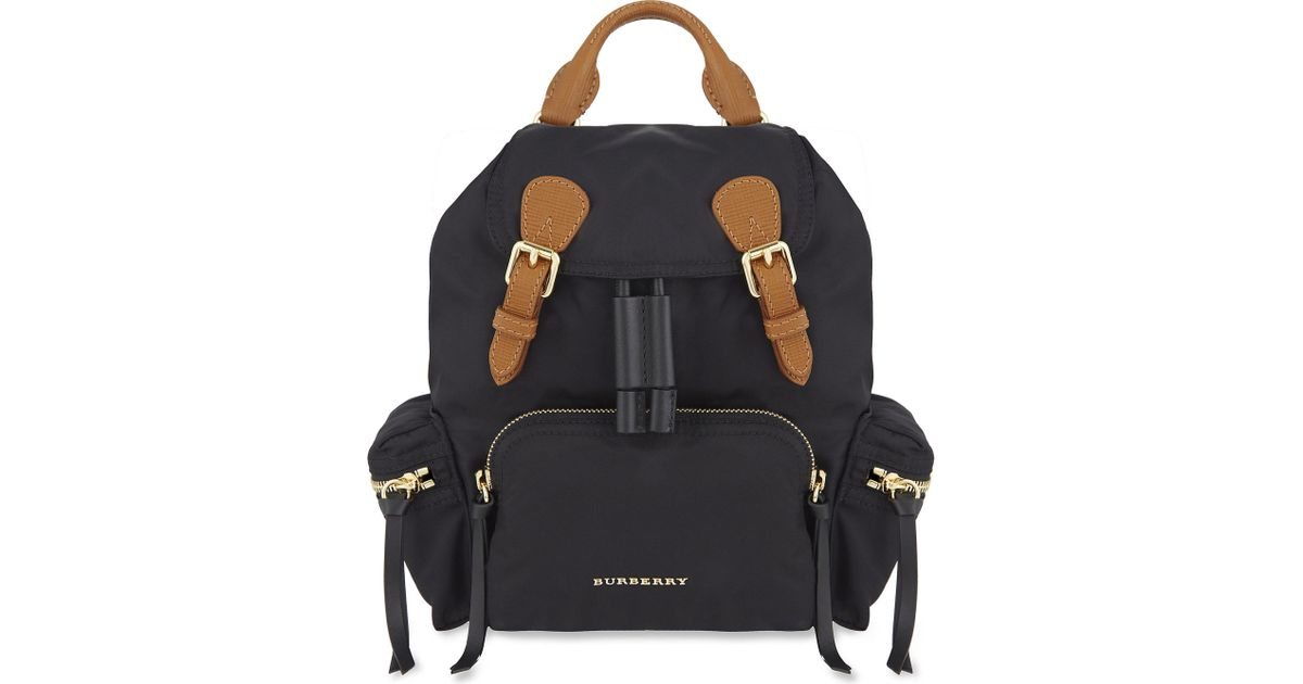 Lyst - Burberry Small Nylon Backpack in Black 4bb84063005af