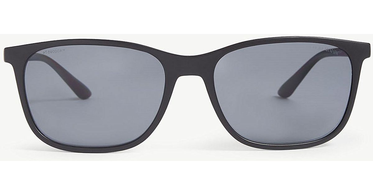 b7783bbf28 Giorgio Armani Square-frame Sunglasses in Gray for Men - Lyst