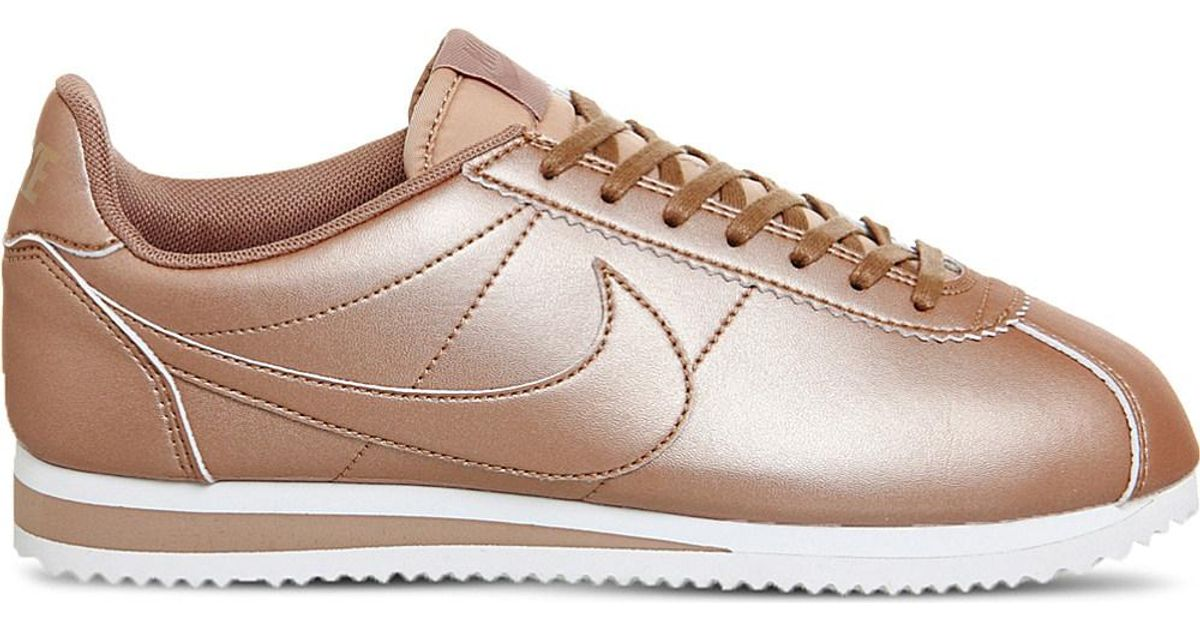 more photos 7f066 2d045 Lyst - Nike Classic Cortez Og Metallic Trainers in Metallic