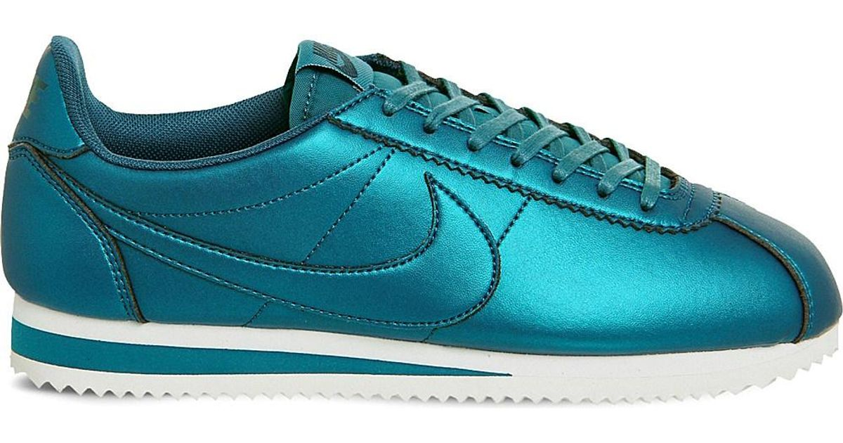 factory price new high half price Nike Blue Classic Cortez Og Metallic Trainers