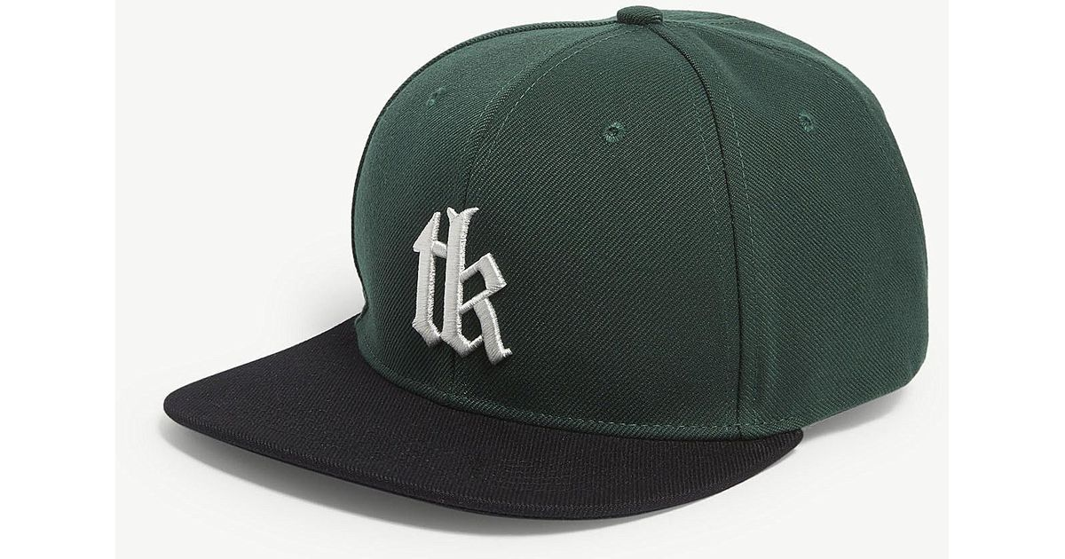 a68a7ddb576 The Kooples Tks Snapback Cap in Green for Men - Lyst