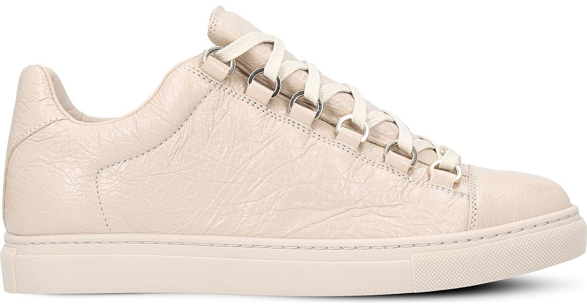 Balenciaga Arena Leather Trainers in