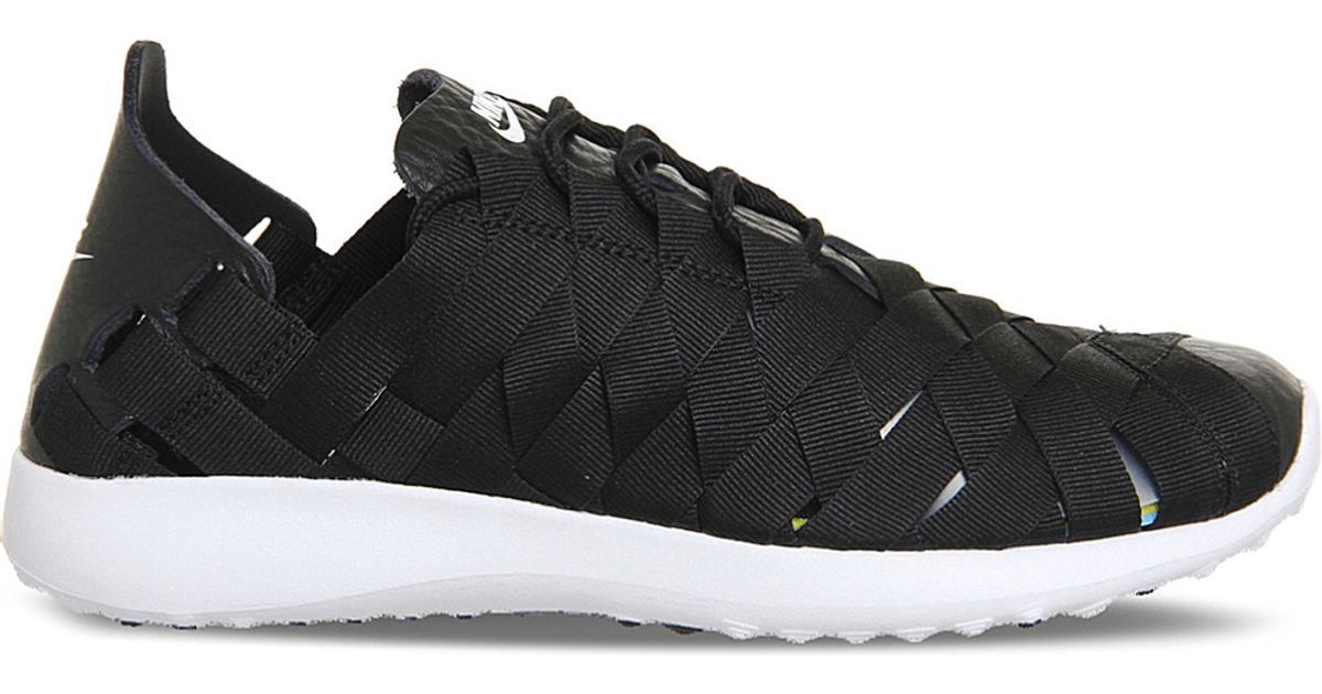 ff9703982c2d Nike Juvenate Criss-cross Woven Trainers in Black - Lyst