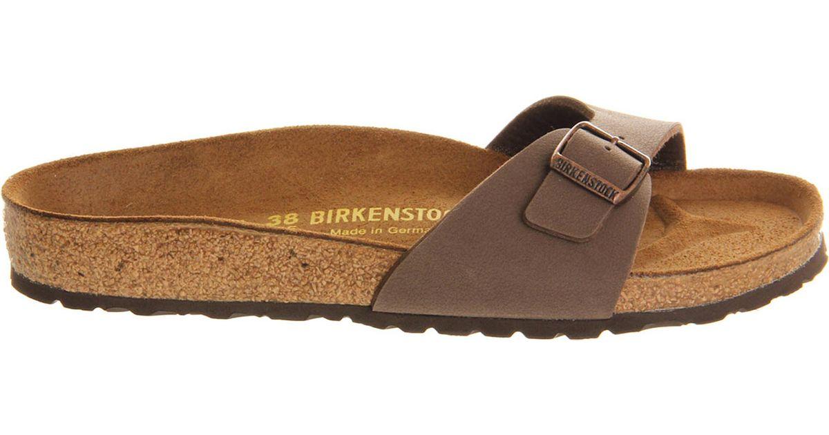 b5db6c9cfdb Lyst - Birkenstock Madrid Faux-leather Sandals in Brown - Save 4%