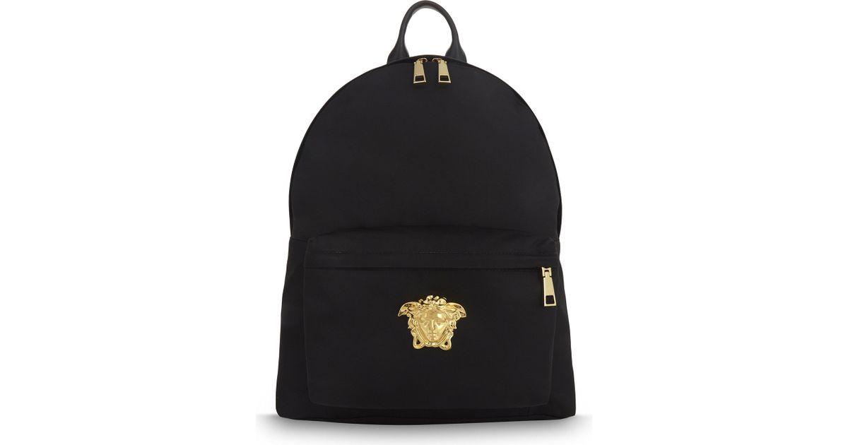 873557db1a Lyst - Versace Medusa Nylon Backpack in Black