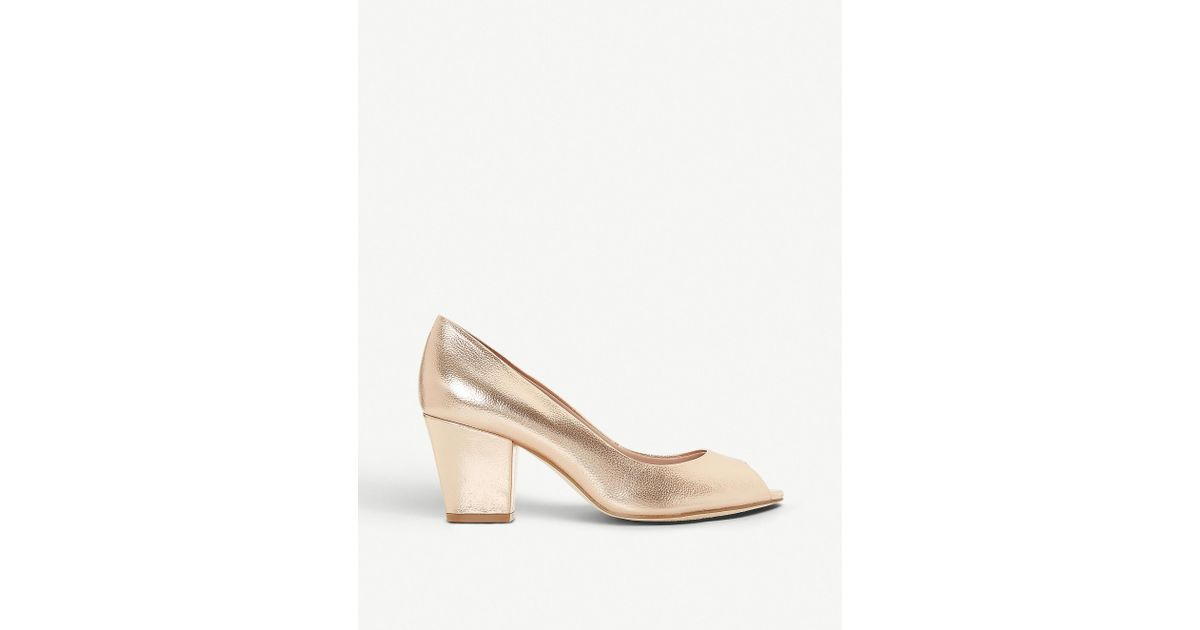 Dune Cathy Peep-toe Faux-leather Courts