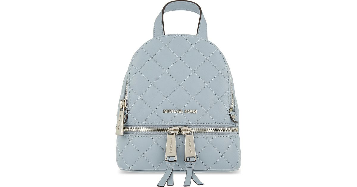 2f5945eeb7a372 MICHAEL Michael Kors Rhea Extra Small Leather Backpack in Blue - Lyst