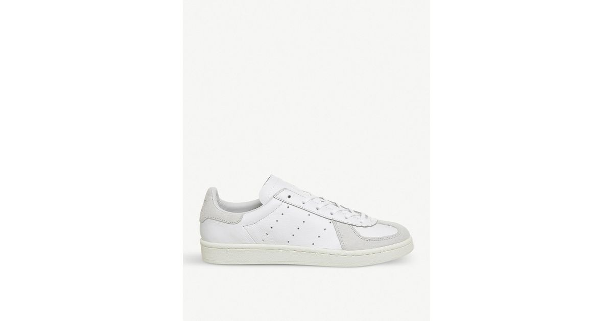 the latest aba9d 97766 Lyst - Adidas Bw Avenue Leather And Suede Trainers in White