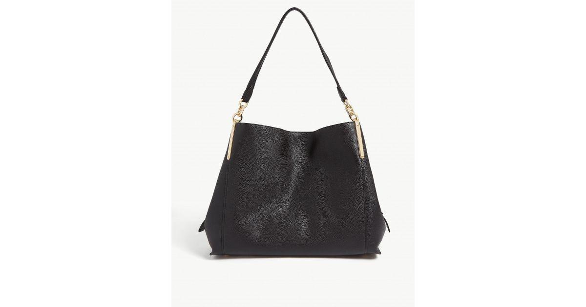 COACH Black Dreamer 31 Grained Leather Hobo Bag