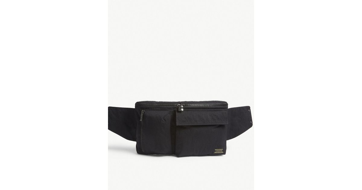 a4d8da7653416 Maharishi Black Cotton Waist Bag for men
