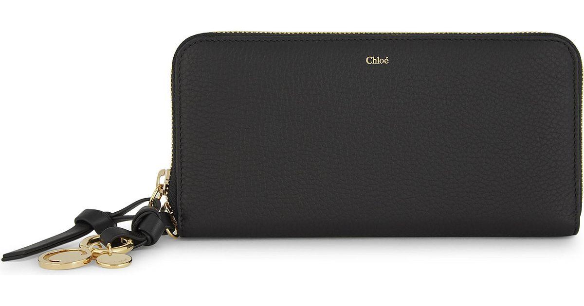 e47abd55 Chloé Black Abc Long Leather Wallet