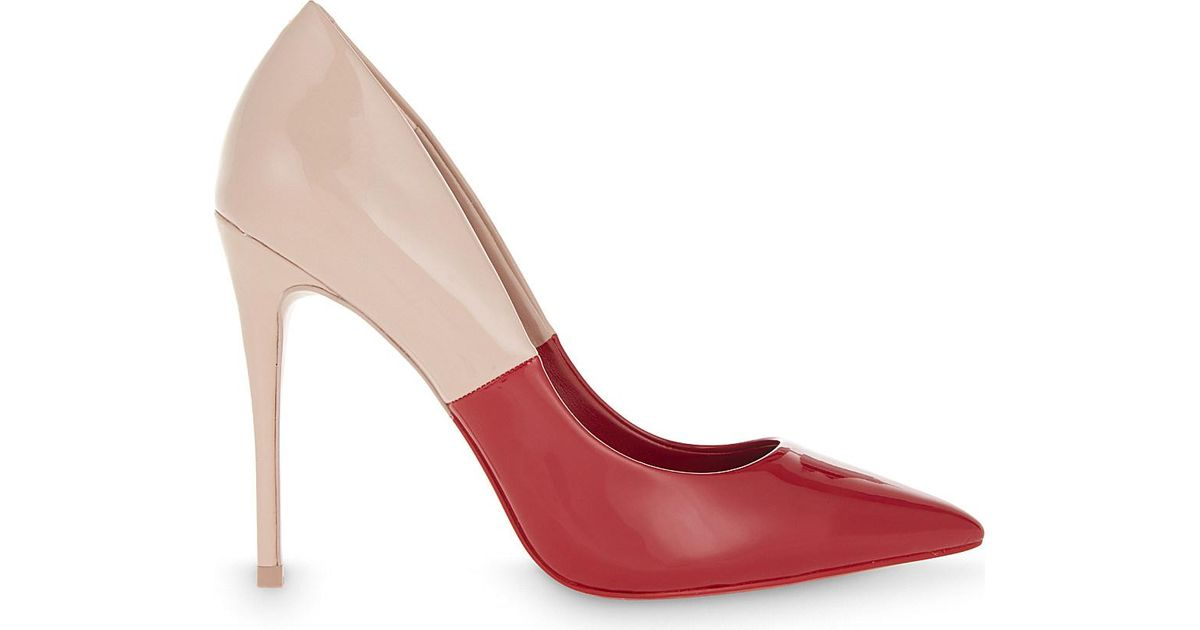 d7201b113f61 Aldo Stessy Two-tone Patent Courts in Red - Lyst