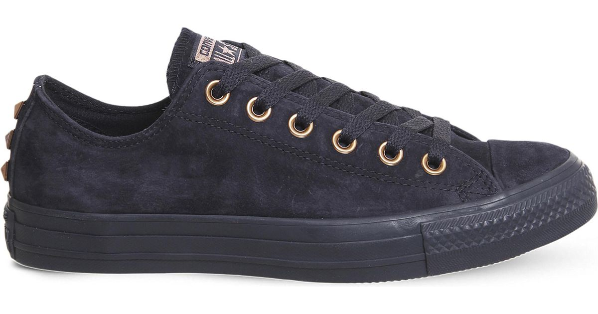 Lyst - Converse All Star Low-top Leather Studded Trainers in Blue for Men 0a2725a2b07f