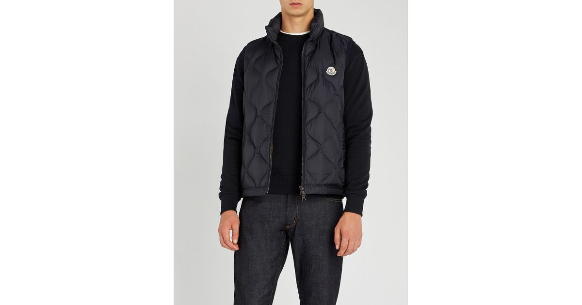 79f63001e Moncler Blue Allemont Quilted Shell And Down-blend Gilet for men