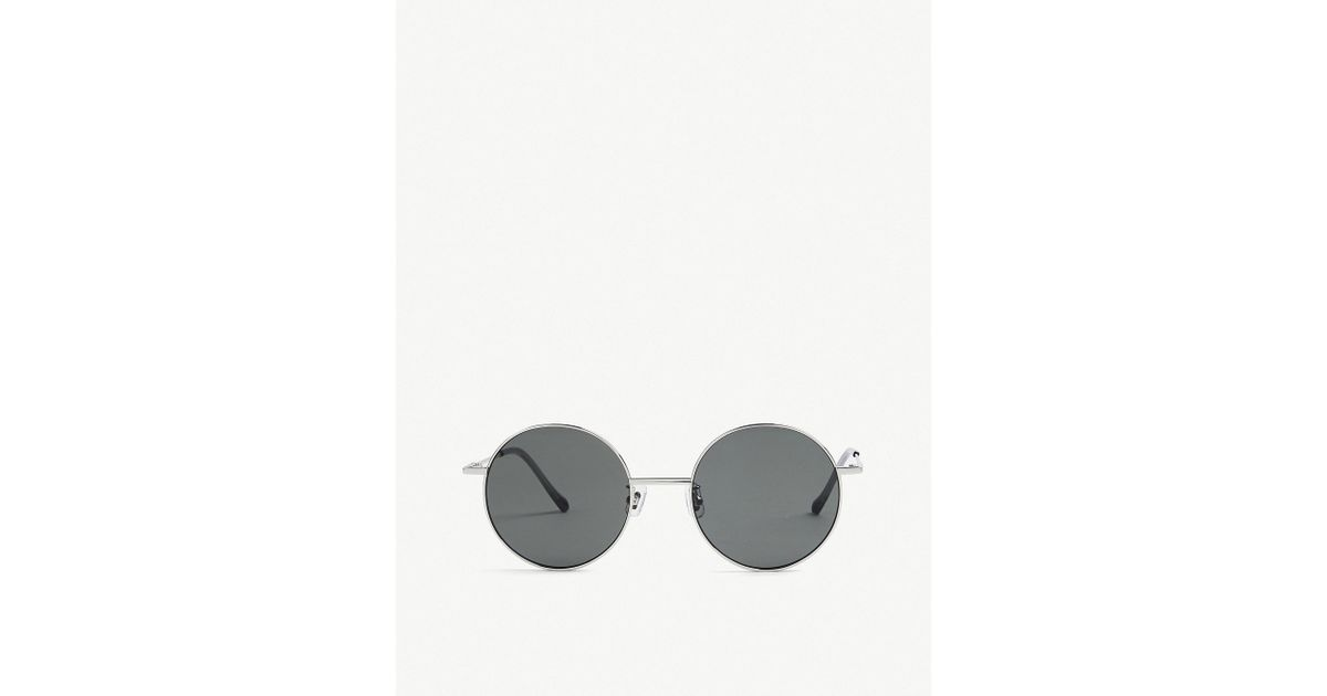 43714bfe096 Lyst - Gentle Monster Midnight Sun Tinted Round-frame Sunglasses in  Metallic for Men