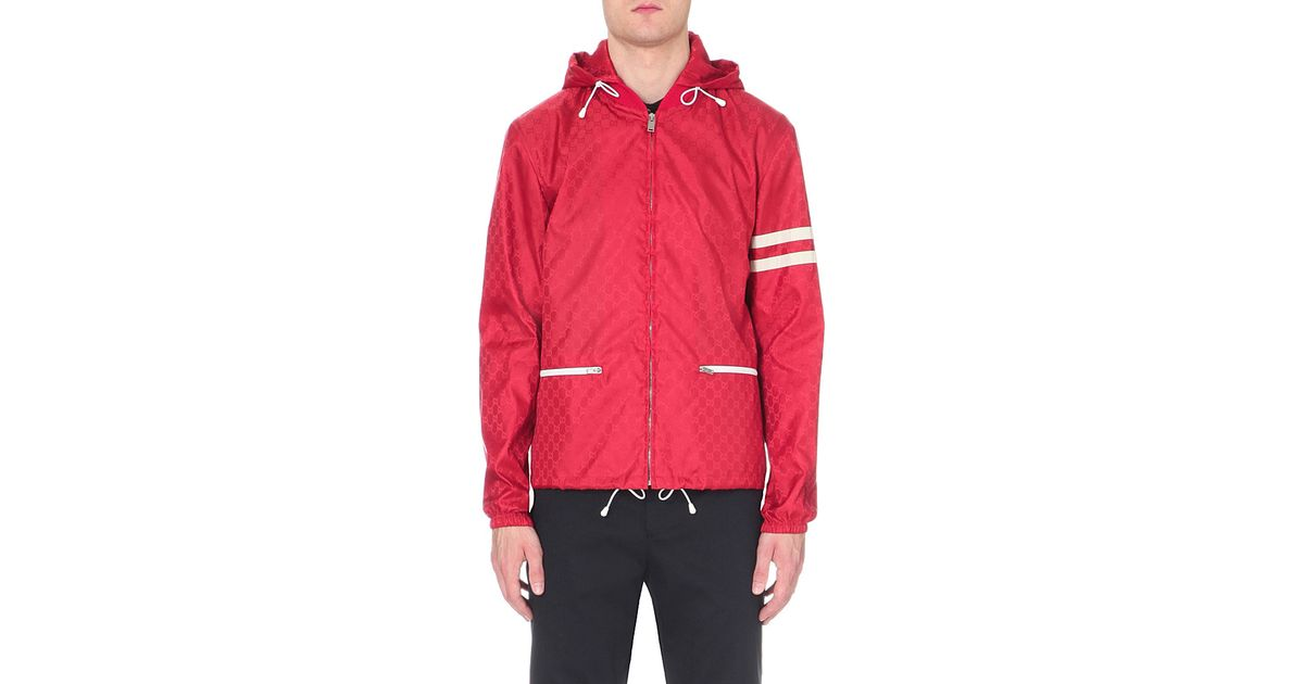 98ae74f61 Gucci Red Striped Shell Jacket for men