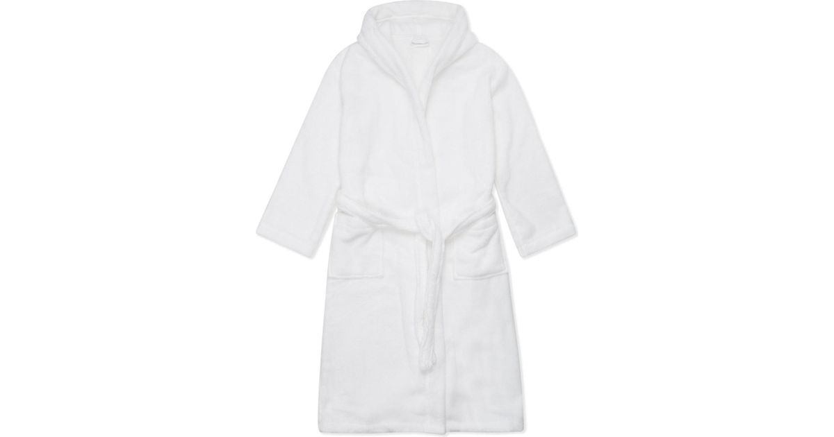 The White Company Cotton Dressing Gown Xs-xl in White - Lyst