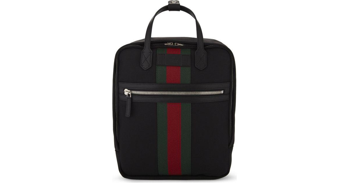 6357c13746cb Gucci 'web' Backpack in Black for Men - Lyst