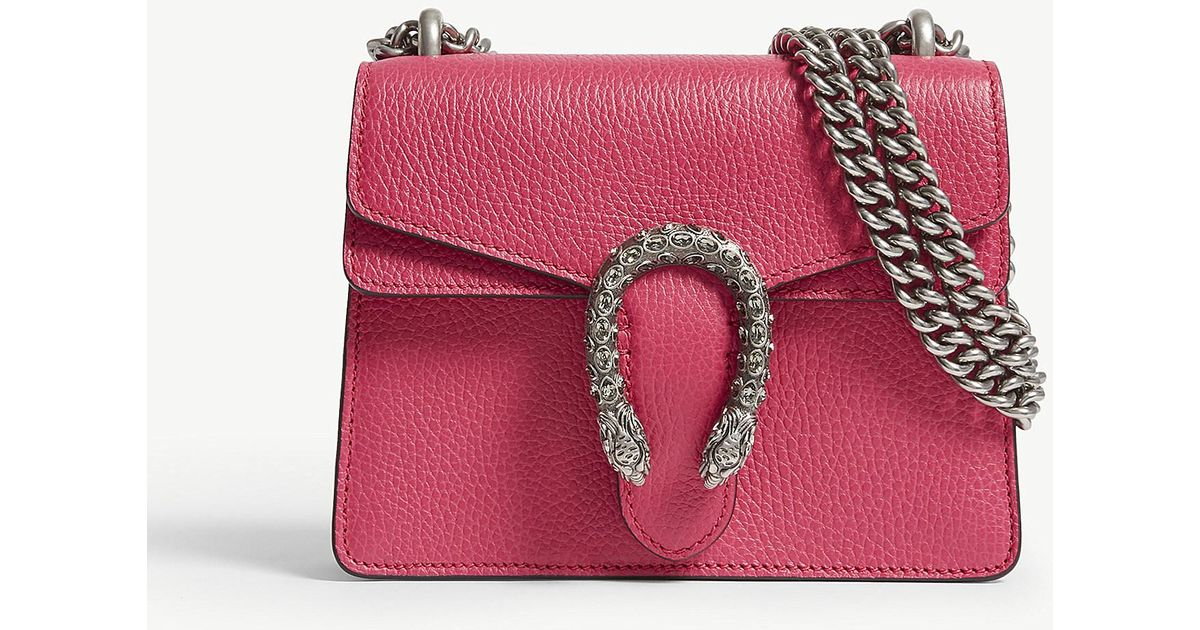 7a6d512ece69 Gucci Dionysus Extra-small Leather Shoulder Bag in Pink - Lyst