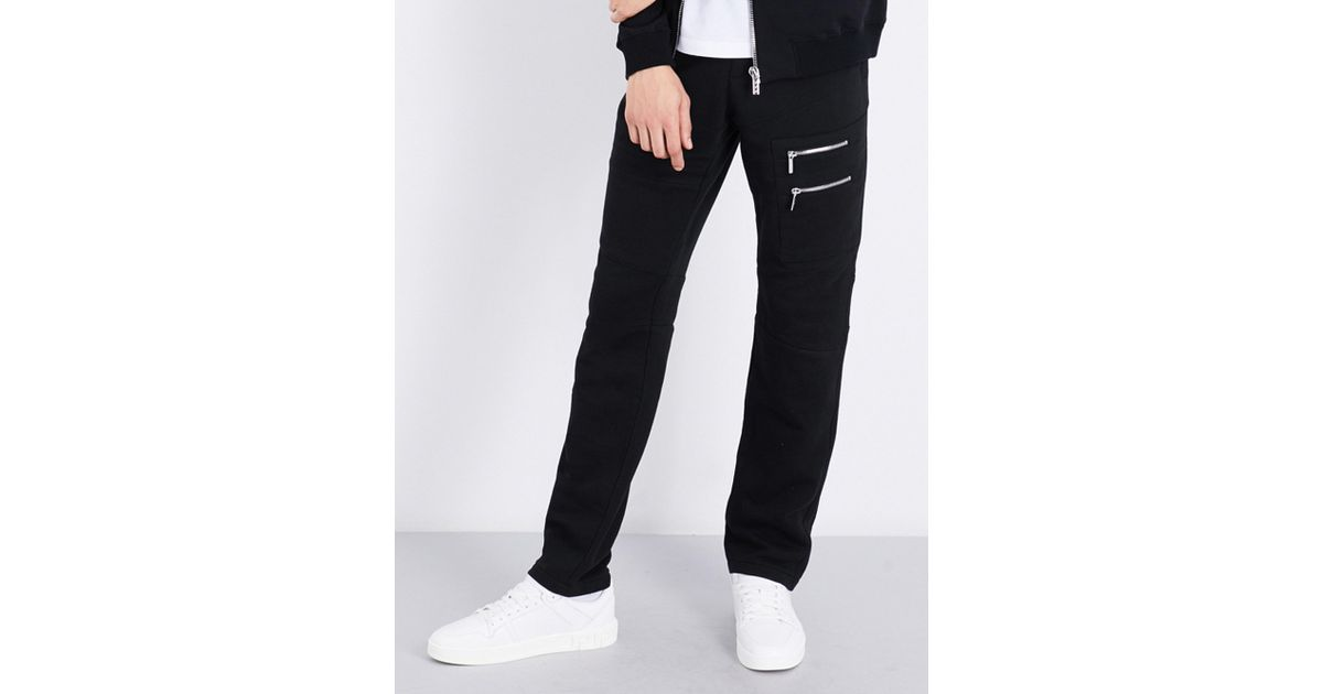 Lyst - Versace Zip-detail Relaxed-fit Tapered Cotton-jersey Jogging Bottoms  in Black for Men