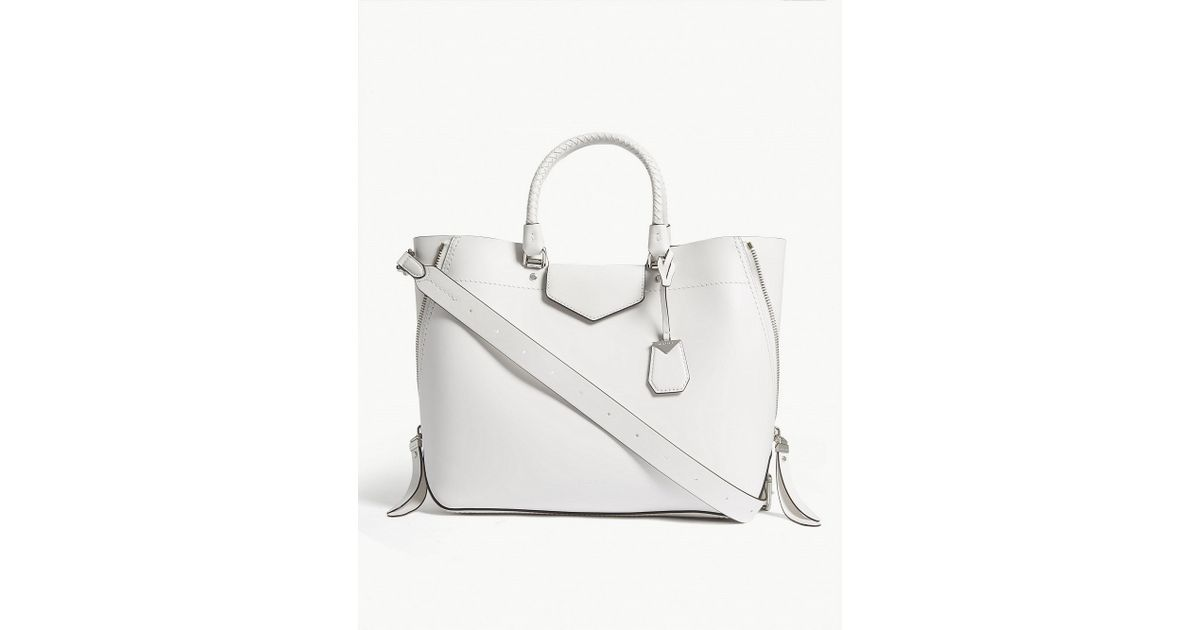 addab4dc5616d Lyst - MICHAEL Michael Kors Blakely Leather Tote in White