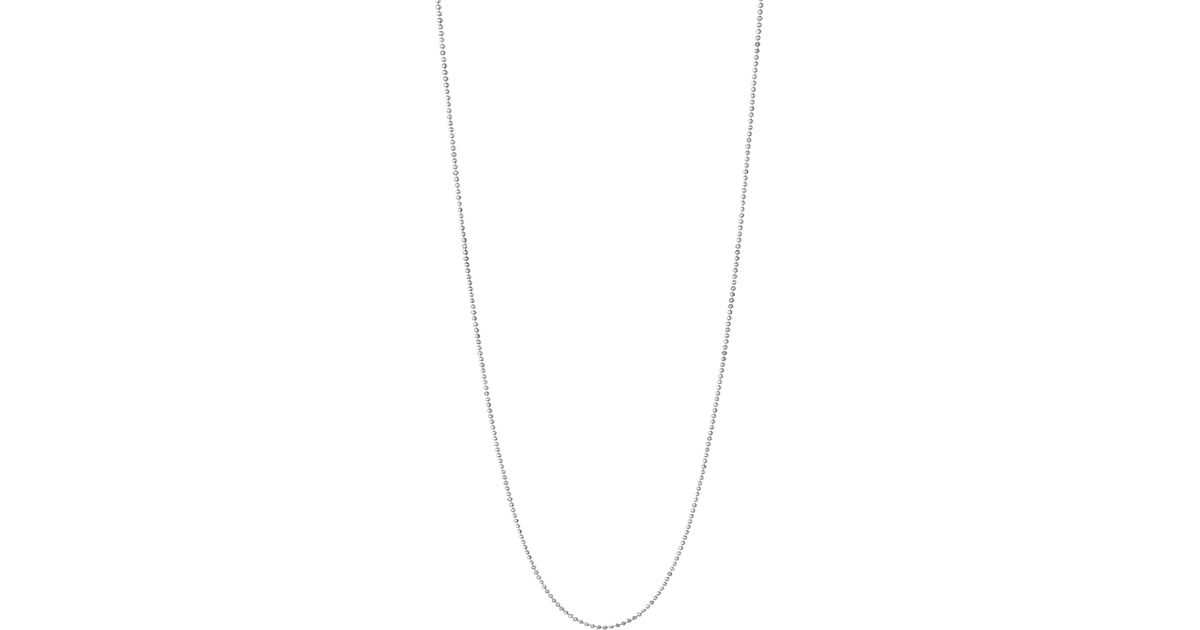 deaaca274e04 Links Of London Essentials Sterling Silver Ball Chain Necklace 60cm in  Metallic - Lyst